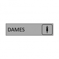 Plaque de porte DAMES en gravoply - 16x4cm