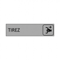 Plaque de porte TIREZ en gravoply - 16x4cm