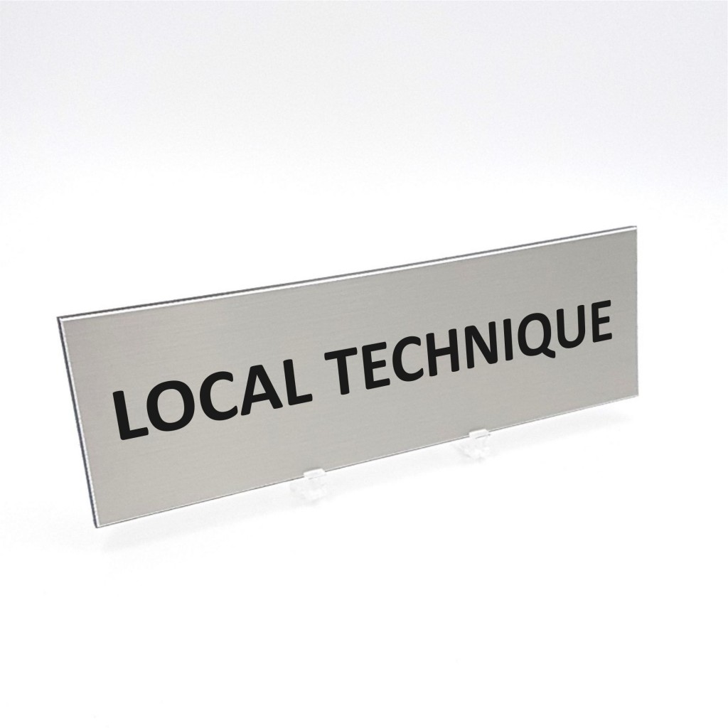 Plaque de porte Local Technique