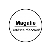 Badge nominatif  - avec épingle d'attache - gravure laser