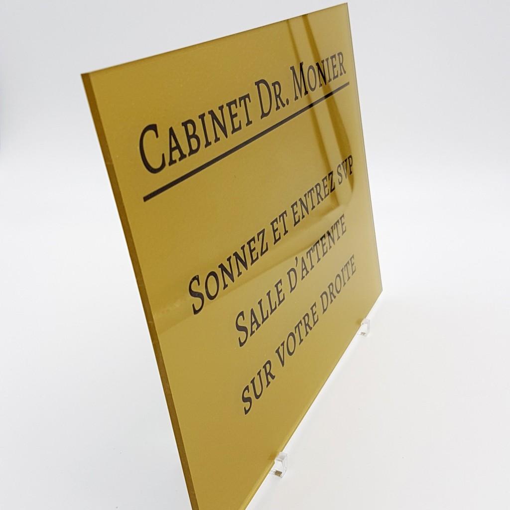 Plaque professionnelle en plexiglas 20x15cm gravure et - Plaque en plexiglas ...