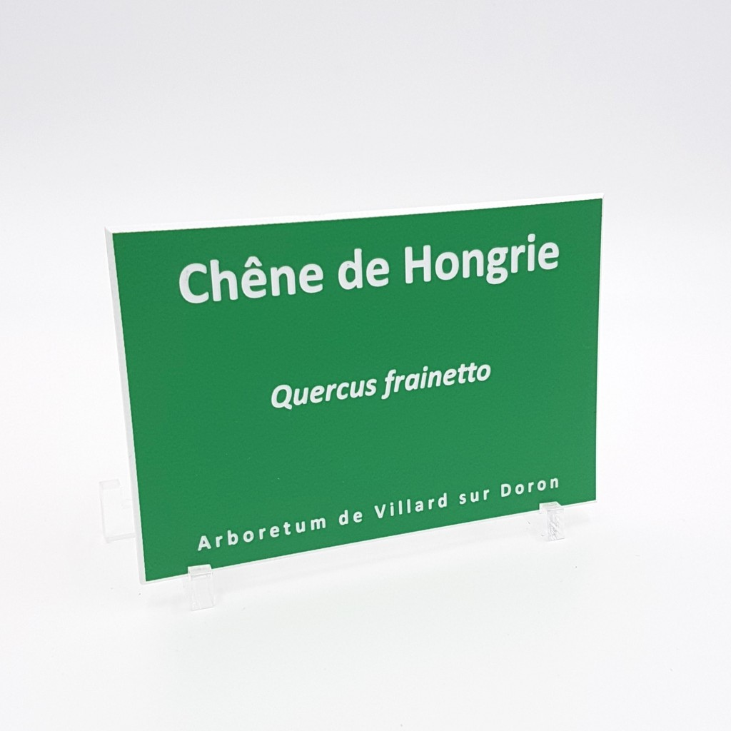 Plaque d'identification de plantes / arbres